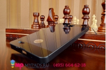 Фирменная металлическая задняя панель-крышка из тончайшего облегченного авиационного алюминия для Huawei Ascend Mate 7 черная