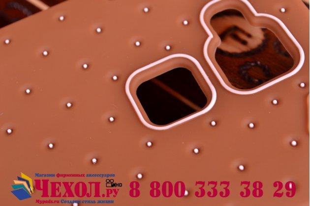 """Фирменная необычная уникальная полимерная мягкая задняя панель-чехол-накладка для Huawei Ascend Mate 7/7 Premium """"тематика Андроид в тёмном Шоколаде"""""""