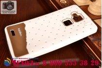 """Фирменная необычная уникальная полимерная мягкая задняя панель-чехол-накладка для Huawei Ascend Mate 7/7 Premium """"тематика Андроид в Белом Шоколаде"""""""
