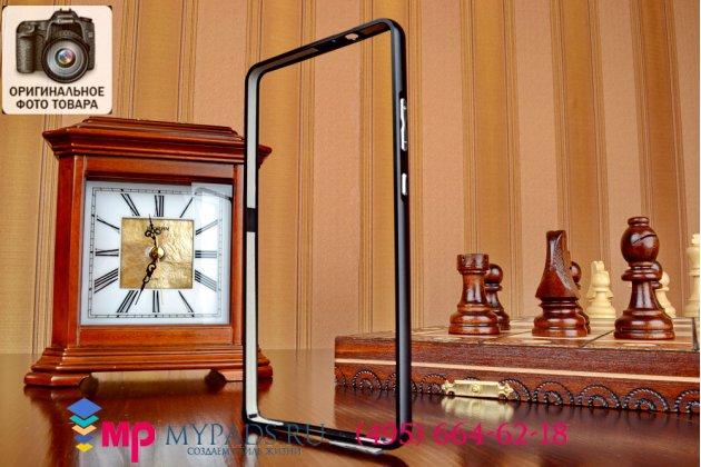 Ультра-тонкий чехол-бампер для Huawei Ascend Mate 7 черный металлический