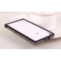 Фирменный оригинальный ультра-тонкий чехол-бампер для Huawei Ascend P6/ P6S черный металлический..