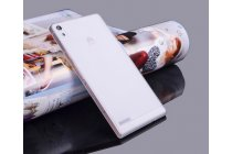 Фирменная ультра-тонкая полимерная из мягкого качественного силикона задняя панель-чехол-накладка для Huawei Ascend P6/ P6S белая