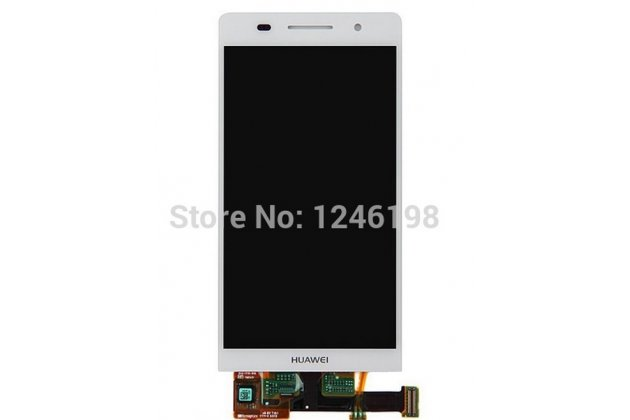 Фирменный LCD-ЖК-сенсорный дисплей-экран-стекло с тачскрином на телефон Huawei Ascend P6/ P6S белый + гарантия