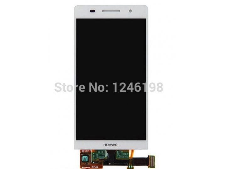 Фирменный LCD-ЖК-сенсорный дисплей-экран-стекло с тачскрином на телефон Huawei Ascend P6/ P6S белый + гарантия..