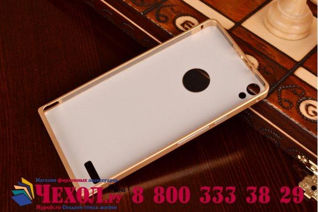 Фирменная металлическая задняя панель-крышка-накладка из тончайшего облегченного авиационного алюминия для Huawei Ascend P6/P6S золотая