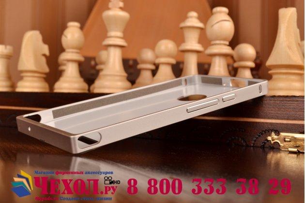 Фирменная металлическая задняя панель-крышка-накладка из тончайшего облегченного авиационного алюминия для Huawei Ascend P6/P6S серебристая