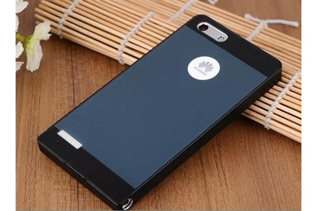 Фирменная металлическая задняя панель-крышка-накладка из тончайшего облегченного авиационного алюминия для Huawei Ascend P7 Mini черная