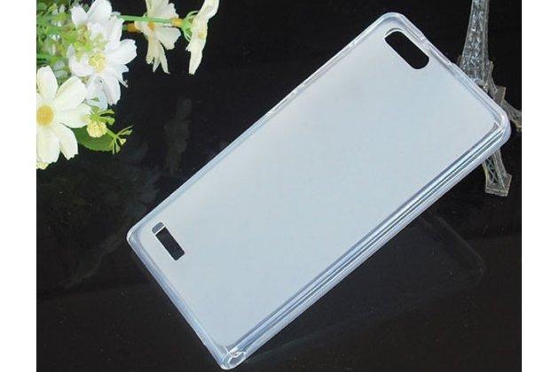 Фирменная ультра-тонкая полимерная из мягкого качественного силикона задняя панель-чехол-накладка для Huawei Ascend P7 Mini белая