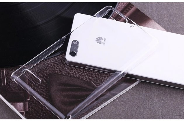 Фирменная ультра-тонкая пластиковая задняя панель-чехол-накладка для Huawei Ascend P7 Mini прозрачная