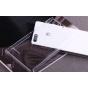 Фирменная ультра-тонкая пластиковая задняя панель-чехол-накладка для Huawei Ascend P7 Mini прозрачная..