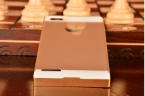 Фирменная металлическая задняя панель-крышка-накладка из тончайшего облегченного авиационного алюминия для Huawei Ascend P7 Mini золотая