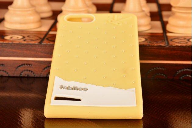 """Фирменная необычная уникальная полимерная мягкая задняя панель-чехол-накладка для Huawei Ascend P7 Mini """"тематика Андроид в банановом шоколаде"""""""