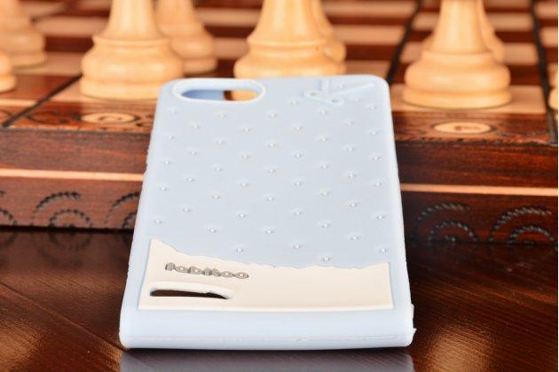 """Фирменная необычная уникальная полимерная мягкая задняя панель-чехол-накладка для Huawei Ascend P7 Mini  """"тематика Андроид в черничном шоколаде"""""""