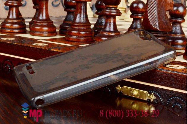Фирменная ультра-тонкая полимерная мягкая задняя панель-чехол-накладка для Huawei Ascend P7 Mini черная