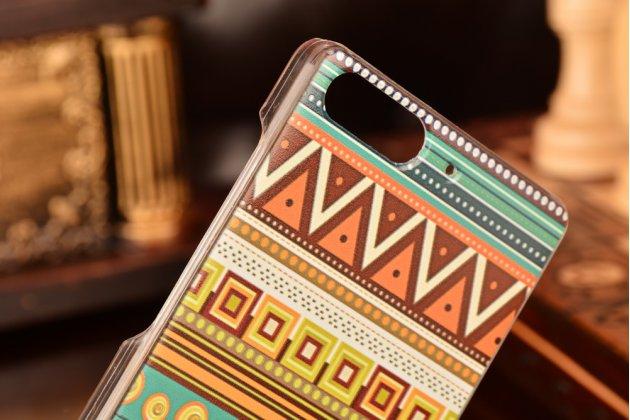 Фирменная роскошная задняя панель-чехол-накладка с безумно красивым расписным эклектичным узором на Huawei Ascend P7 Mini