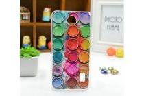 """Фирменная необычная из легчайшего и тончайшего силикона задняя панель-чехол-накладка для Huawei Ascend Y336 / Y3 /Y3C /Y3-U03 4.0""""   """"тематика Краски"""""""