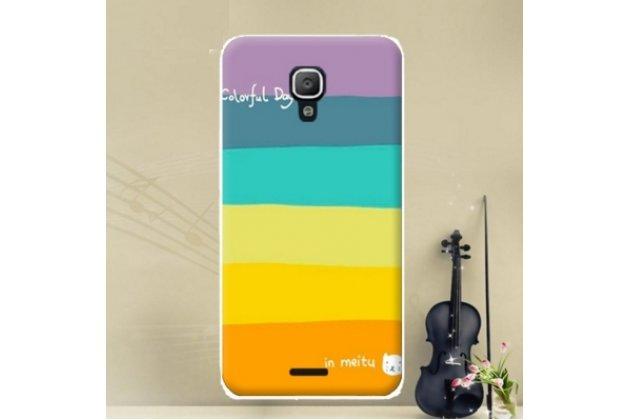 """Фирменная необычная из легчайшего и тончайшего силикона задняя панель-чехол-накладка для Huawei Ascend Y336 / Y3 /Y3C /Y3-U03 4.0""""   """"тематика Все цвета радуги"""""""