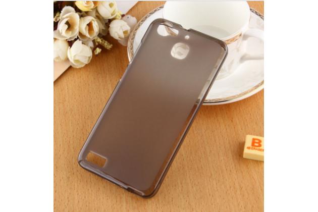 """Фирменная ультра-тонкая полимерная из мягкого качественного силикона задняя панель-чехол-накладка для  Huawei Ascend Y336 / Y3 /Y3C /Y3-U03 4.0""""  черная"""