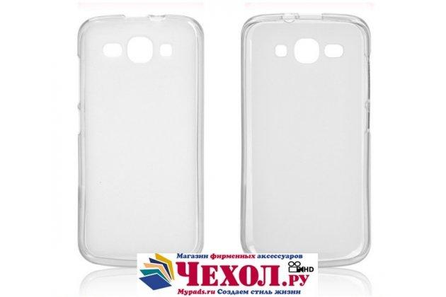 Фирменная ультра-тонкая полимерная из мягкого качественного силикона задняя панель-чехол-накладка для Huawei Ascend Y520 белая