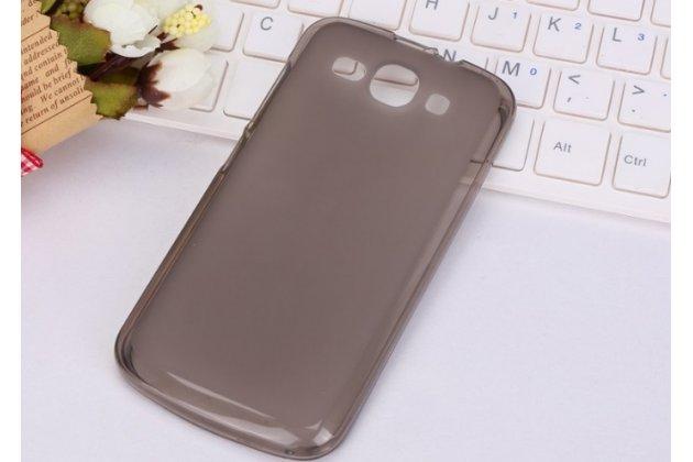 Фирменная ультра-тонкая полимерная из мягкого качественного силикона задняя панель-чехол-накладка для Huawei Ascend Y520 черная