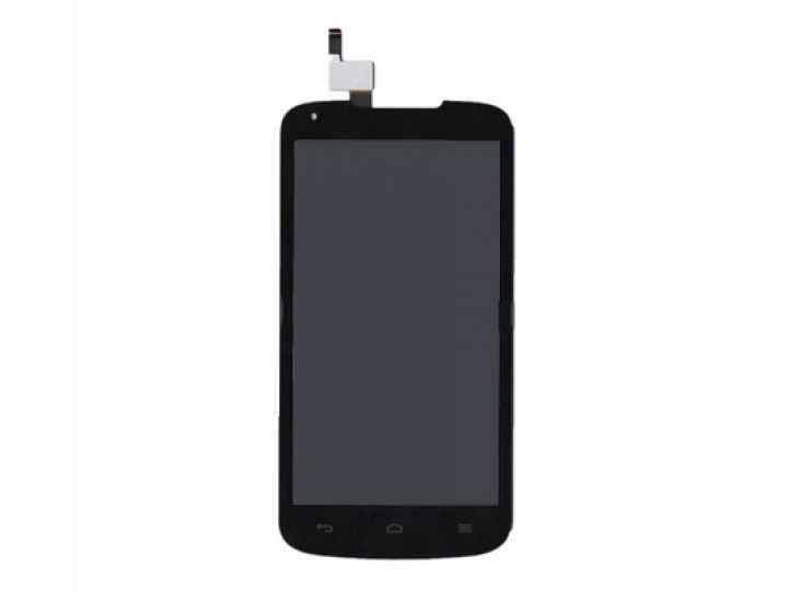 Фирменный LCD-ЖК-сенсорный дисплей-экран-стекло с тачскрином на телефон Huawei Ascend Y520 черный и инструмент..