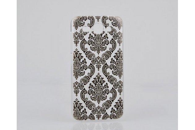 Фирменная роскошная задняя панель-чехол-накладка с расписным узором для Huawei Ascend Y520 прозрачная черная