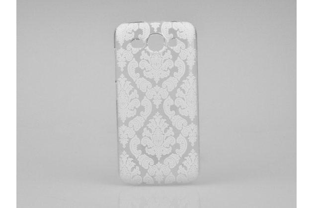 Фирменная роскошная задняя панель-чехол-накладка с расписным узором для Huawei Ascend Y520 прозрачная белая