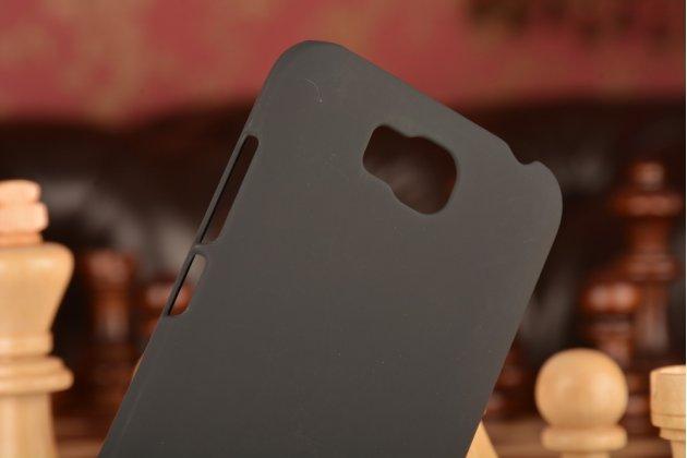 Фирменная задняя панель-крышка-накладка из тончайшего и прочного пластика для Huawei Ascend Y541/Y5C/Honor Bee черная