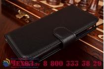 Фирменный чехол-книжка из качественной импортной кожи с мульти-подставкой застёжкой и визитницей для Хуавей Асцент Акцент У550 черный