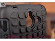 Противоударный усиленный грязестойкий фирменный чехол-бампер-пенал для Huawei Ascend Y550 черный..