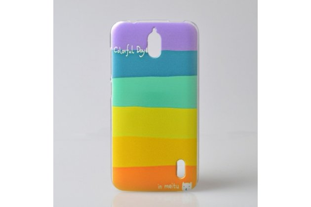 """Фирменная необычная из легчайшего и тончайшего пластика задняя панель-чехол-накладка для Huawei Ascend Y625 / Y625-U32 5.0""""  """"тематика Все цвета Радуги"""""""