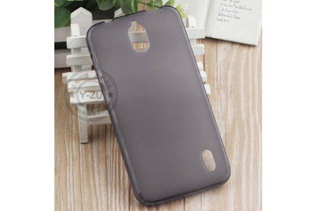 """Фирменная ультра-тонкая полимерная из мягкого качественного силикона задняя панель-чехол-накладка для  Huawei Ascend Y625 / Y625-U32 5.0"""" черная"""