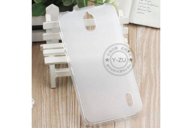 """Фирменная ультра-тонкая полимерная из мягкого качественного силикона задняя панель-чехол-накладка для  Huawei Ascend Y625 / Y625-U32 5.0"""" белая"""