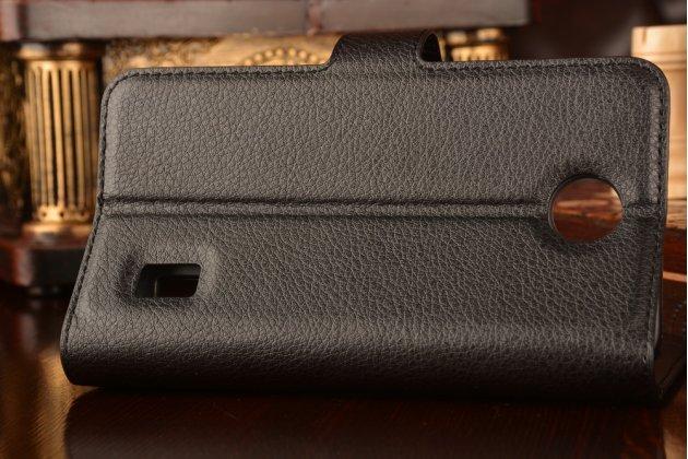 """Фирменный чехол-книжка из качественной импортной кожи с подставкой застёжкой и визитницей для Huawei Ascend Y635/ Y635-CL00/Y635-TL00/ Y635-L21 5.0""""  черный"""