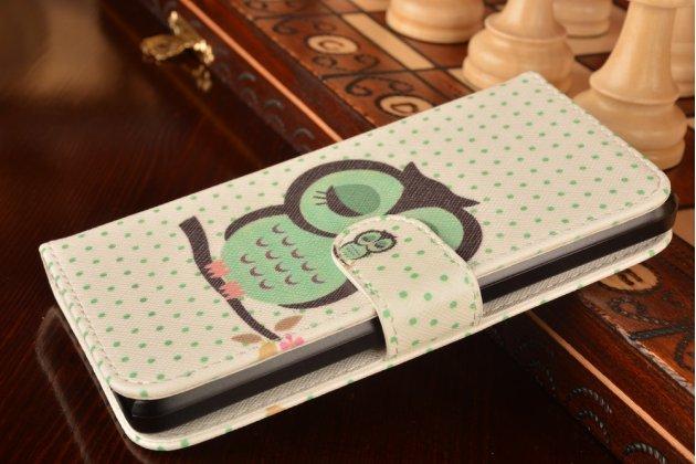 """Фирменный уникальный необычный чехол-книжка для Huawei Ascend Y635/ Y635-CL00/Y635-TL00/ Y635-L21 5.0""""   """"тематика Сова"""""""