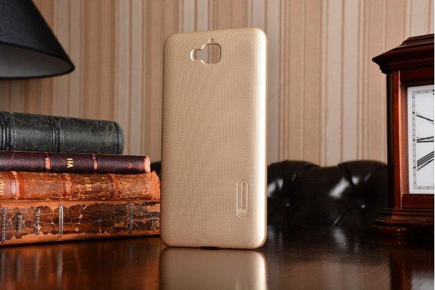 """Фирменная задняя панель-крышка-накладка из тончайшего и прочного пластика для Huawei Enjoy 5 (TIT-AL00) 5.0""""  золотая"""