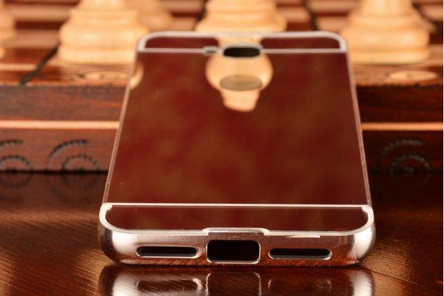 """Фирменная металлическая задняя панель-крышка-накладка из тончайшего облегченного авиационного алюминия для Huawei Enjoy 5 (TIT-AL00)/Y6 Pro/Honor 4C Pro (TIT-L01) 5.0"""" серебристая"""