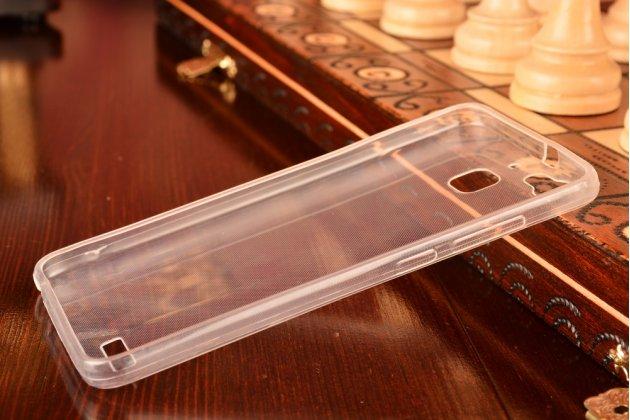 Фирменная ультра-тонкая полимерная из мягкого качественного силикона задняя панель-чехол-накладка для  Huawei G8 mini / Huawei Enjoy 5S  белая