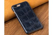 Фирменная элегантная экзотическая задняя панель-крышка с фактурной отделкой натуральной кожи крокодила синего цвета для Huawei Enjoy 6S / Nova Smart 5.0/Huawei Honor 6C . Только в нашем магазине. Количество ограничено.