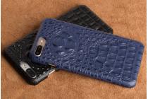 Фирменная роскошная эксклюзивная накладка с объёмным 3D изображением рельефа кожи крокодила синий для Huawei Enjoy 6S / Nova Smart 5.0/ Huawei Honor 6C . Только в нашем магазине. Количество ограничено