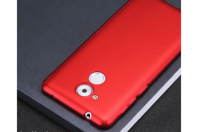 Фирменный уникальный чехол-бампер-панель с полной защитой дисплея и телефона по всем краям и углам для Huawei Enjoy 6S / Nova Smart 5.0/Huawei Honor 6C красного цвета