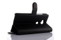 Фирменный чехол-книжка из качественной импортной кожи с подставкой застёжкой и визитницей для Хюавей Джи 628 /Huawei G628  черный