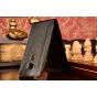 Фирменный оригинальный вертикальный откидной чехол-флип для Huawei Ascend G8/G7 Plus/GX8 черный из натуральной..