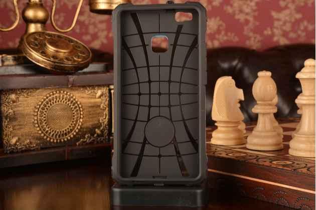 """Противоударный усиленный ударопрочный фирменный чехол-бампер-пенал для Huawei P9 Lite / G9 / Dual Sim LTE (VNS-L21 / VNS-TL00/DL00) 5.2"""" синий"""