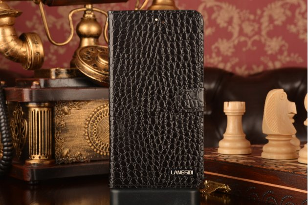 """Фирменный роскошный эксклюзивный чехол с фактурной прошивкой рельефа кожи крокодила и визитницей черный для Huawei P9 + Plus (VIE-AL10 ) 5.5"""" . Только в нашем магазине. Количество ограничено"""