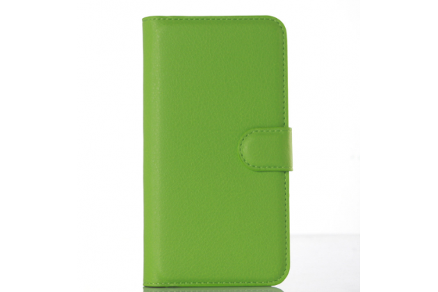 """Фирменный чехол-книжка из качественной импортной кожи с подставкой застёжкой и визитницей для Huawei GR3 Dual Sim LTE (TAG-L21) 5.0""""  зеленый"""