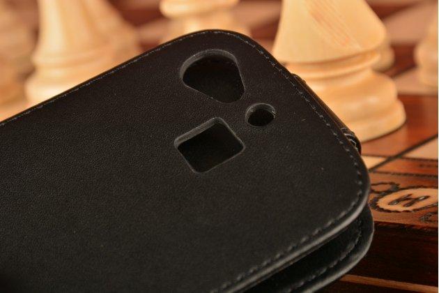 """Фирменный оригинальный вертикальный откидной чехол-флип для Huawei GR3 Dual Sim LTE (TAG-L21) 5.0"""" черный кожаный"""