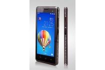 Фирменный оригинальный ультра-тонкий чехол-бампер для Huawei Honor 3C черный металлический