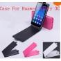 Фирменный оригинальный вертикальный откидной чехол-флип для Huawei Honor Glory Play 3C черный кожаный