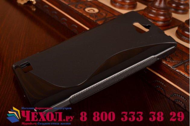 Фирменная ультра-тонкая полимерная из мягкого качественного силикона задняя панель-чехол-накладка для Huawei Honor 3C черная